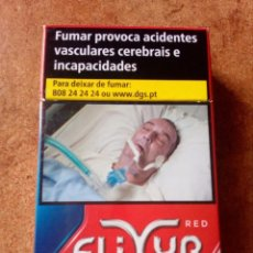 Paquetes de tabaco: PAQUETE DE TABACO ELIXYR RED,VACIO. Lote 87053676