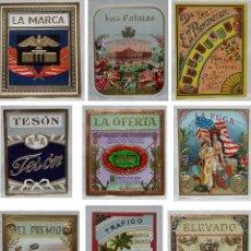 Paquetes de tabaco: LOTE 9 HABILITACIONES TABACO TRAFICO-EL PREMIO-ELF PROVINCIEN-OFERTA-ELEVADO-PALMAS-TESON-FUGA-MARCA. Lote 91959875