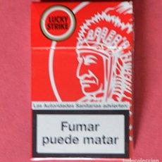 Paquetes de tabaco: LUCKY STRIKE - EDICION ESPECIAL - ROJO INDIO - PAQUETE DE TABACO VACÍO. Lote 92021665