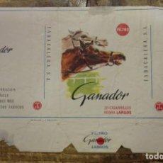 Maços de tabaco: CAJETILLA DE CIGARRILLOS. GANADOR. Lote 93282040