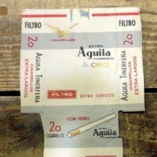 Paquetes de tabaco: PAQUETE DE TABACO VACÍO - AGUILA TINERFEÑA DE ORO. Lote 93287230