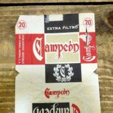 Paquetes de tabaco: PAQUETE TABACO PAPEL VACIO CAMPEON. Lote 93289390