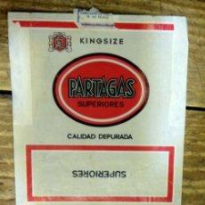 Paquetes de tabaco: PAQUETE TABACO PAPEL VACIO PARTAGAS SUPERIORES. Lote 93340395