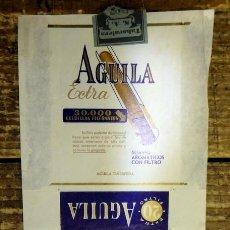 Paquetes de tabaco: PAQUETE TABACO PAPEL VACIO AGUILA EXTRA. Lote 93340490