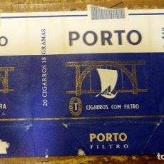 Paquetes de tabaco: PAQUETE TABACO VACIO ANTIGUO PORTO, PORTUGAL. Lote 93340860
