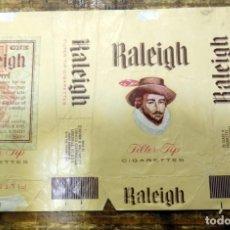 Paquetes de tabaco: PAQUETE DE TABACO RALEIGH (U.S.A.), VACIO, CON CUPON. Lote 93344970