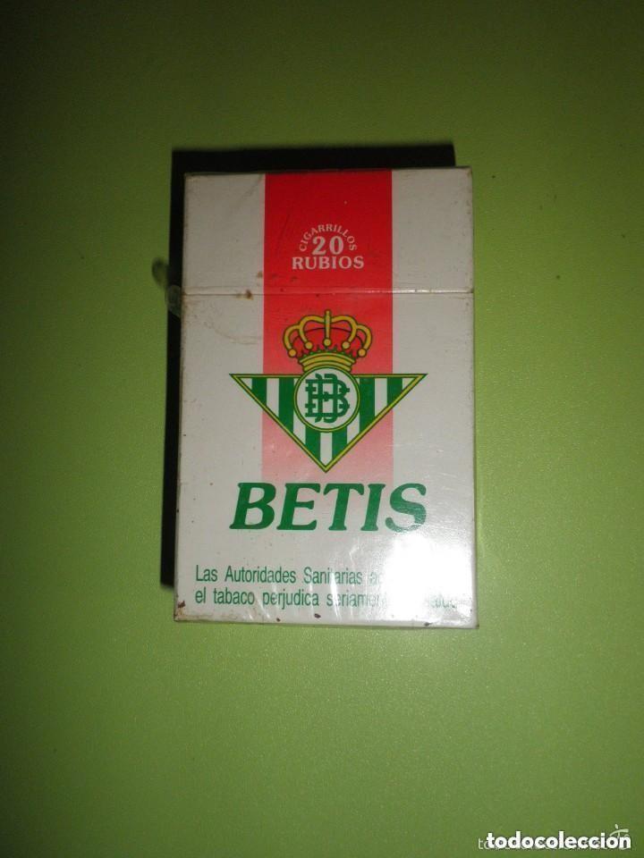 PAQUETE TABACO REAL BETIS BALOMPIÉ NUEVO PRECINTADO COLECCIÓN FÚTBOL CIGARROS (Coleccionismos - Paquetes de tabaco)