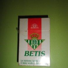 Paquetes de tabaco: PAQUETE TABACO REAL BETIS BALOMPIÉ NUEVO PRECINTADO COLECCIÓN FÚTBOL CIGARROS. Lote 93951495