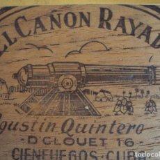 Paquetes de tabaco: (TA-170789)CAJA MADERA DE 25 FUMITAS EL CAÑON RAYADO AGUSTIN QUINTERO - CIENFUEGOS - CUBA. Lote 94215425