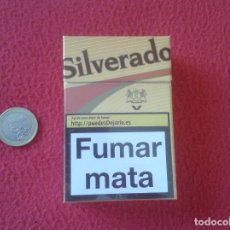 Paquetes de tabaco: PAQUETE DE CIGARRITOS TABACO VACÍO CAJETILLA DURA TENGO MAS PAQUETES VER LOTES SILVERADO ESCASO. Lote 135052245