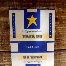 Paquetes de tabaco: ANTIGUA ETIQUETA DE TABACO FAIR 58, RARA. Lote 109483522