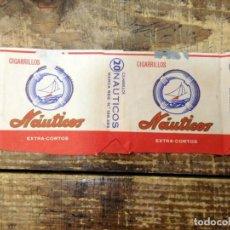 Paquetes de tabaco: PAQUETE DE TABACO VACÍO - NÁUTICOS EXTRA CORTOS - LAS PALMAS. Lote 95218179