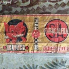 Paquetes de tabaco: ANTIGUO PAQUETE DE TABACO MARCA BUBI . Lote 95588847