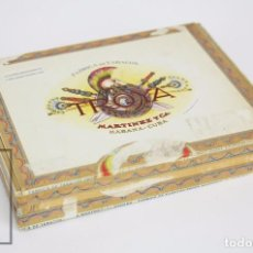 Paquetes de tabaco: CAJA VACÍA DE 25 PUROS DE TABACO - TROYA. 25 UNIVERSALES. MARTÍNEZ Y CÍA. - HABANA, CUBA. Lote 95813367