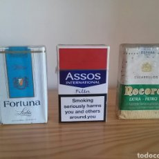 Paquetes de tabaco: PAQUETES DE TABACO ANTIGUOS. RÉCORD, FORTUNA LIGHT . Lote 96171472