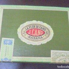 Paquetes de tabaco: CAJA DE PUROS. LA FLOR DE CANO. J.CANO. HABANA. PRECINTADA. PERFECTO ESTADO. 1978. VER FOTOS. Lote 96667799