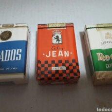 Paquetes de tabaco: LOTE 3 PAQUETES DE TABACO DISTINTOS SIN ABRIR. Lote 159053014