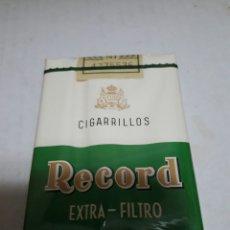Paquetes de tabaco: PAQUETE ANTIGUO DE TABACO RECORD SIN ABRIR. Lote 96710638