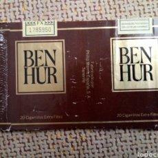 Paquetes de tabaco: ORIGINAL 70´S - ANTIGUA CAJETILLA DE TABACO ENVOLTORIO ABIERTO - PAQUETE DE CIGARRILLOS BEN HUR . Lote 97504486