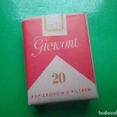 Paquetes de tabaco: GIEWONT PAQUETE DE TABACO PRECINTADO POLONIA AÑOS '70. Lote 97826163