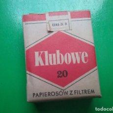 Paquetes de tabaco: KLUBOWE PAQUETE DE TABACO PRECINTADO POLONIA AÑOS '70. Lote 97826210