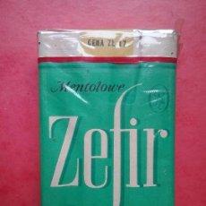 Paquetes de tabaco: ZEFIR TABACO PAQUETE PRECINTADO POLONIA AÑOS '70. Lote 97826707