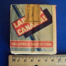 Paquetes de tabaco: (TA-170934) CAJA DE CIGARRILLOS 16 POPULARES - LABORES CANARIAS - COMPLETA - PRECINTADA. Lote 103353919
