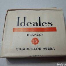 Paquetes de tabaco: PAQUETE ANTIGUO DE TABACO IDEALES BLANCOS AÑOS 70. Lote 98889995