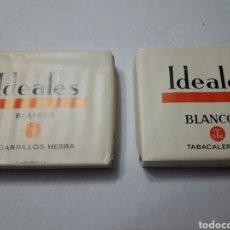 Paquetes de tabaco: LOTE 2 PAQUETES DE TABACO IDEALES BLANCOS AÑOS 70. Lote 98890380