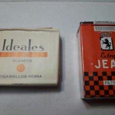 Paquetes de tabaco: LOTE 2 PAQUETES DE TABACO DISTINTOS SIN ABRIR AÑOS 70. Lote 98890455