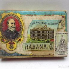 Paquetes de tabaco: PICADURA SELECTA DE TABACO JOSEP GENER Y BATET LA ESCEPCION HABANA. Lote 98997935