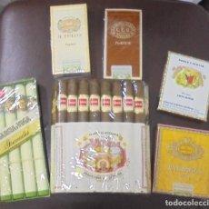 Paquetes de tabaco: LOTE DE 6 CAJITAS DE PUROS. PARTAGAS, UPMANN, ROMEO Y JULIETA, GLORIA CUBANA, GARCIA Y VEGA, VARGAS. Lote 100257522