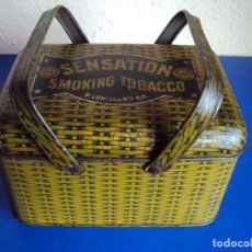 Paquetes de tabaco: (TA-171022)CAJA METALICA SENSATION - SMOKING TOBACCO. Lote 100146243