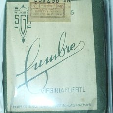Paquetes de tabaco: CUMBRE VIRGINIA FUERTE- PAQUETE DE TABACO PRECINTADO NUNCA ABIERTO - ORIGINAL-. Lote 100309959
