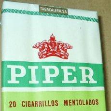 Paquetes de tabaco: PIPER MENTOLADO - PAQUETE DE TABACO PRECINTADO NUNCA ABIERTO - ORIGINAL-. Lote 100310339
