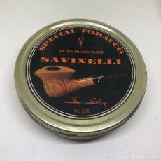 Paquetes de tabaco: ANTIGUA CAJA DE TABACO METALICA SPECIAL TOBACCO SAVINELLI. METALICA. VACIA. Lote 179402302