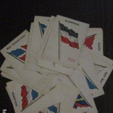 Paquetes de tabaco: OBSEQUIO CIGARRILLOS PATRICIOS-COLECCION BANDERAS 30 CROMOS-MIDEN 7X 10 CM. -VER FOTOS- (V-12.408). Lote 101482023