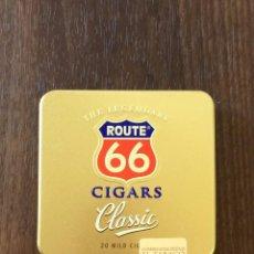 Paquetes de tabaco: LATA AGIO CIGARS HOLLAND, ROUTE 66, 1997. CON 9 CIGARROS. Lote 204192658