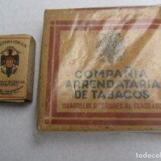 Paquetes de tabaco: LOTE , PAQUETE DE TABACO , COMPAÑIA ARRENDATARIA DE TABACOS , CAJA CERILLAS HACIENDA PUBLICA. Lote 103285907