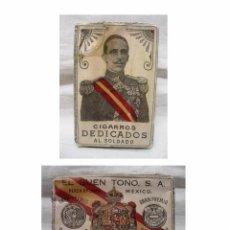 Paquetes de tabaco: PAQUETE TABACO DEDICADOS AL SOLDADO-IMAGEN ALFONSO XIII-TV. LA FORJA DE UN REBELDE-EL BUEN TONO S.A.. Lote 103623587