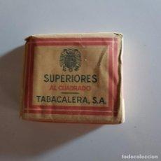 Paquetes de tabaco: SUPERIORES AL CUADRADRO. Lote 104088039