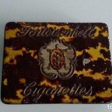 Paquetes de tabaco: ANTIGUA CAJA METALICA DE CIGARRILLOS TORTOISHELL CIGARETTES. TABACO. Lote 105105019