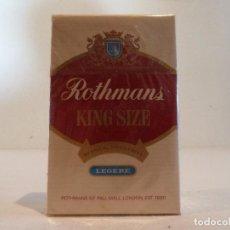 Paquetes de tabaco: RARÍSIMO PAQUETE DE TABACO ROTHMANS ROJO - LONDRES - SIN ABRIR. Lote 105846091