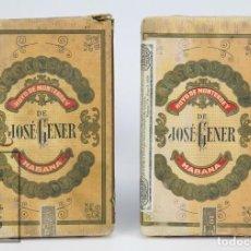 Paquetes de tabaco: PAREJA DE PAQUETES DE PICADURA DE TABACO - HROS. DE JOSÉ GENER - HOYO DE MONTERREY - LA HABANA, CUBA. Lote 105989443