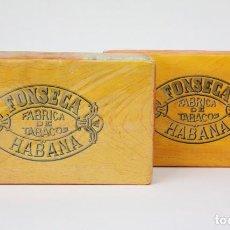 Paquetes de tabaco: PAREJA DE PAQUETES DE PICADURA DE TABACO - FONSECA. FÁBRICA DE TABACOS - LA HABANA, CUBA. Lote 105989887