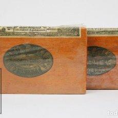 Paquetes de tabaco: PAREJA DE PAQUETES DE PICADURA DE TABACO - ROMEO Y JULIETA. ÁLVAREZ Y GARCÍA - LA HABANA, CUBA. Lote 105990063