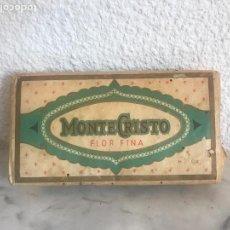 Paquetes de tabaco: ANTIGUO PAQUETE DE TABACO PICADO MONTECRISTO , FLOR FINA,SUAVE 4 ONZAS. Lote 106068299
