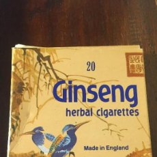 Paquetes de tabaco: GINSENG HERBAL CIGARETTES. Lote 107049827