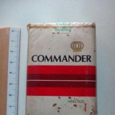 Paquetes de tabaco: ANTIGUA CAJA TABACO COMMANDER SIN ABRIR. Lote 107279944