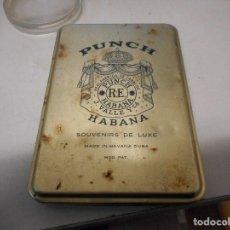 Paquetes de tabaco: PAQUETE TABACO METALICO PUNCH HABANA CIGARRO. Lote 110570568